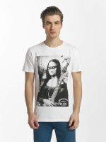 SHINE Original T-Shirty Collin Denim Rebel Print bialy