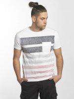 SHINE Original T-Shirty Faded Stripe bialy