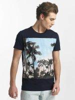 SHINE Original T-Shirty Lupe Palm Print niebieski