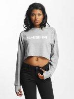 Shisha  Felpa con cappuccio Cropped grigio