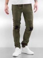 Sixth June Облегающие джинсы Destroyed Inside Patch хаки