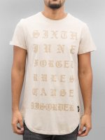 Sixth June Camiseta Curved Gothic beis