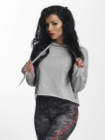 Sixth June Hoodie Classic Oversize Cropped gray