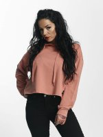 Sixth June Hoody Classic Oversize Cropped rosa