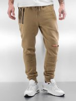Sixth June Pantalone ginnico Destroyed Slim Fit beige