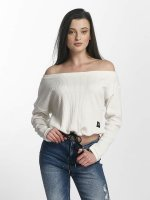 Sixth June Pullover Oversize Cold Shoulder weiß
