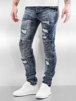 Sixth June Skinny jeans Destroyed Biker blauw