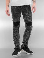Sixth June Skinny jeans Destroyed KneeCut Biker zwart