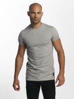 Sixth June T-shirt Skinny Round Bottom grigio