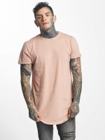 Sixth June T-shirt long oversize Rounded Bottom rose