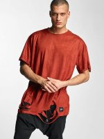 Sixth June T-Shirt Destroyed Overside Suede rouge