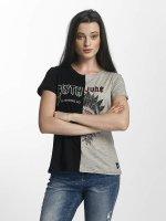 Sixth June T-Shirt Two Tone schwarz