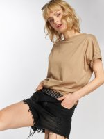 Sixth June T-Shirty Classic Oversize bezowy
