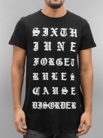 Sixth June T-Shirty Curved Gothic czarny