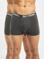 Sky Rebel  Shorts boxeros Double Pack gris