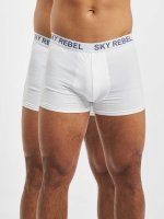 Sky Rebel boxershorts Double Pack Logo wit