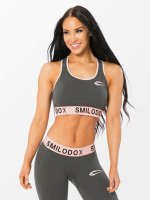Smilodox Soutiens-gorge de sport Native gris