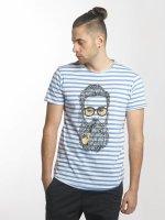 Solid t-shirt Malik blauw
