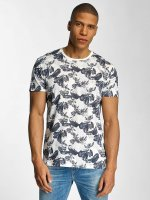 Solid T-shirt Flowers blu