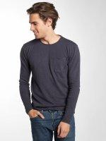 Solid T-Shirt manches longues Norfolk bleu