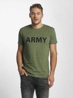 Solid T-shirt Kealan oliva