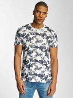 Solid T-Shirty Flowers niebieski