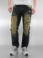 Southpole Straight fit jeans Ripped Slim olijfgroen