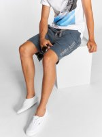 Stitch & Soul Short Sweat blue