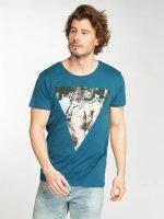 Stitch & Soul T-Shirt Deep Lake blau