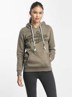 Sublevel Sweat capuche Love Peace Happiness olive