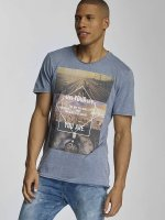 Sublevel T-Shirt Live Your Life bleu