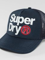 Superdry Casquette Trucker mesh Baseball Lineman bleu