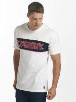 Superdry T-paidat Retro Stripe Box Fit valkoinen