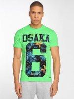Superdry T-paidat Osaka Hibiscus Infill vihreä