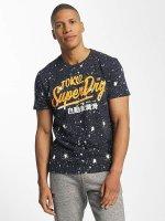 Superdry T-Shirt Premium Goods Paint Splatter blau