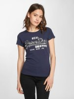 Superdry T-Shirt Vintage Logo Sequin Entry blau