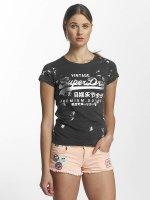 Superdry T-Shirt Premium Goods Doodle Entry grau