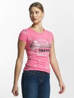 Superdry T-Shirt Premium Goods Doodle Entry pink