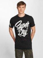 Superdry t-shirt Urban Camo Long Line zwart