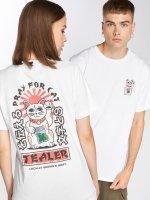 Tealer T-skjorter Pray For Cat hvit