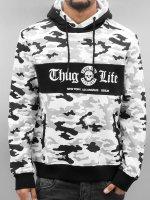 Thug Life Hoodie Ragthug vit