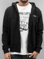 Thug Life Sweat capuche zippé Angle Life noir