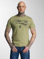 Thug Life t-shirt Kursiv olijfgroen