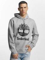Timberland Mikiny Stacked Logo šedá