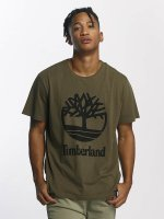 Timberland T-paidat Linear Basic Stacked oliivi