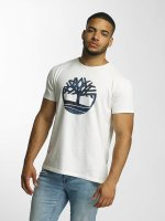 Timberland T-Shirt Dustan River Camo Print Brand weiß