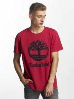 Timberland T-Shirty Linear Basic Stacked czerwony