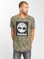 Timberland T-Shirty Camo Logo moro
