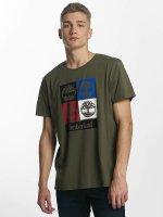 Timberland T-Shirty 90'S Logo oliwkowy