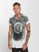 trueprodigy T-shirt Skull Indian bianco